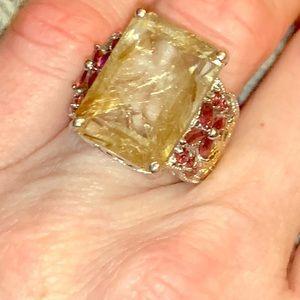 aurelia rutilated quartz orissa rhodolite garnet